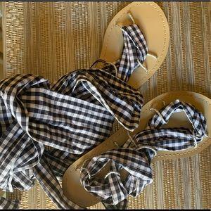 Zara sandals checkered brand new  40